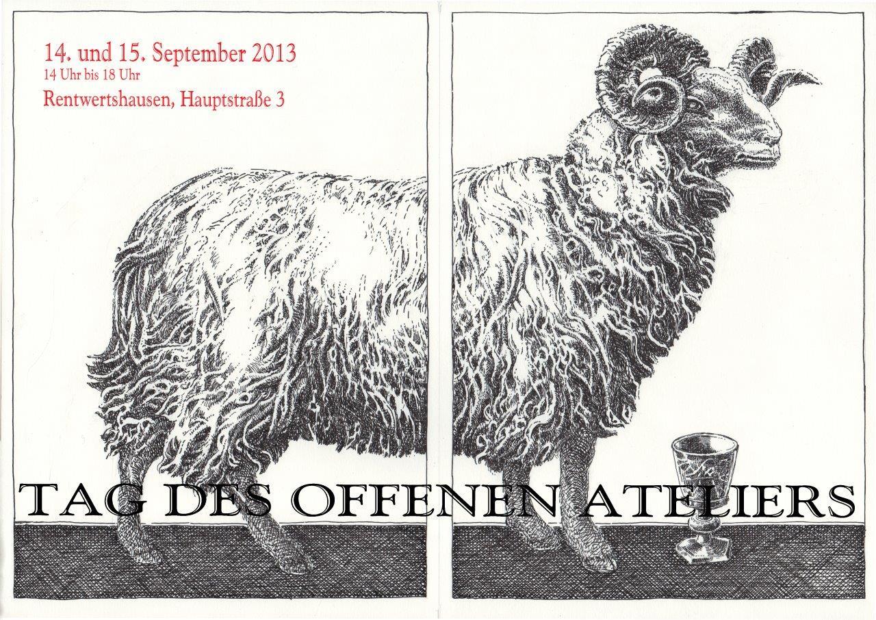 Flyer Offenes Atelier 2013